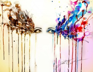 abstract paintings eyes multicolor masks promises lies_wallpaperswa.com_42