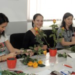 workshop aranjamente aranjamente florale corporate - workshop tematic trandafiri si lisianthus